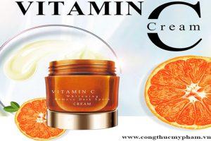 Gia công kem dưỡng trắng vitamin C- Gia công kem làm trắng độc quyền