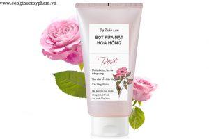 Gia công sữa rửa mặt tạo bọt hoa hồng-Bọt rửa mặt- Gia công mỹ phẩm